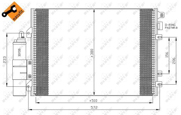 Condenseur / Radiateur de climatisation NRF 35967 (X1)