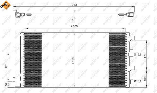 Condenseur / Radiateur de climatisation NRF 35969 (X1)