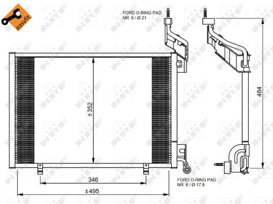 Condenseur / Radiateur de climatisation NRF 35976 (X1)