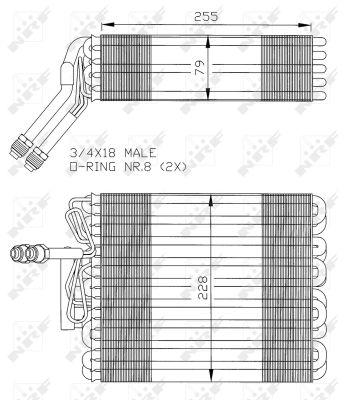 Evaporateur NRF 36024 (X1)