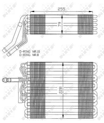 Evaporateur NRF 36025 (X1)