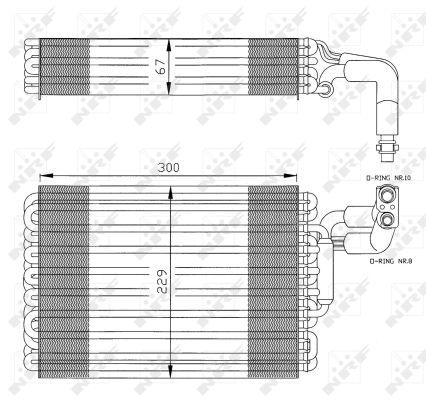 Evaporateur NRF 36030 (X1)