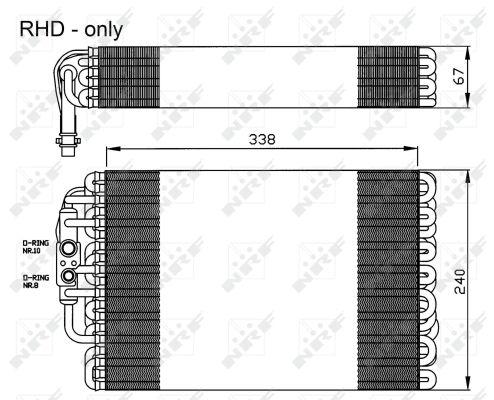 Evaporateur NRF 36119 (X1)