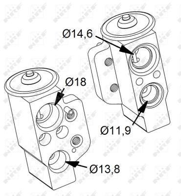 Detendeur de climatisation NRF 38417 (X1)