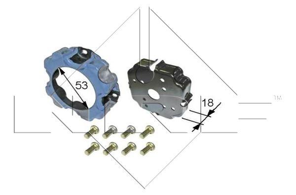 Bobine, compresseur-embrayage magnétique NRF 38473 (X1)