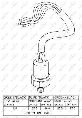Pressostat de climatisation NRF 38918 (X1)
