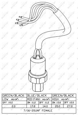 Pressostat de climatisation NRF 38920 (X1)
