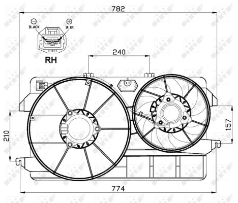 Ventilateur de radiateur NRF 47000 (X1)