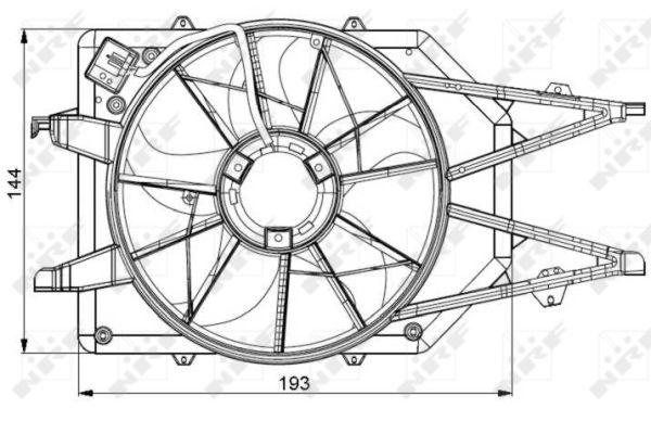 Ventilateur de radiateur NRF 47034 (X1)