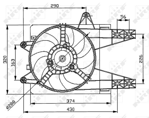 Ventilateur de radiateur NRF 47038 (X1)