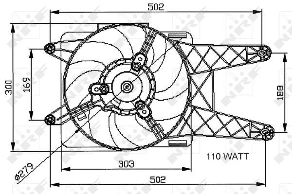 Ventilateur de radiateur NRF 47039 (X1)