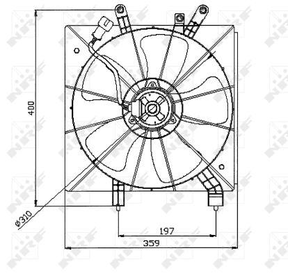 Ventilateur de radiateur NRF 47043 (X1)