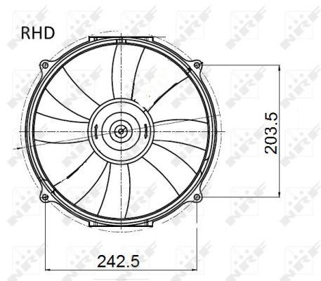 Ventilateur de radiateur NRF 47045 (X1)