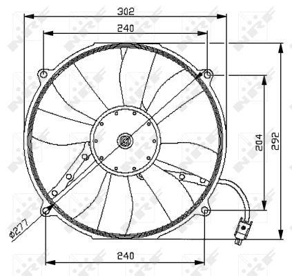 Ventilateur de radiateur NRF 47046 (X1)