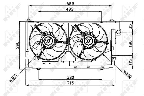 Ventilateur de radiateur NRF 47050 (X1)