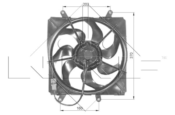 Ventilateur de radiateur NRF 47054 (X1)