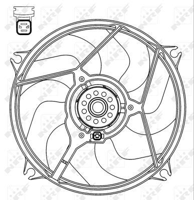 Ventilateur de radiateur NRF 47069 (X1)