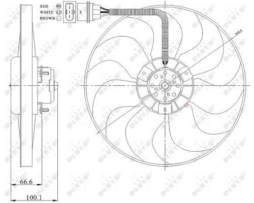 Ventilateur de radiateur NRF 47204 (X1)