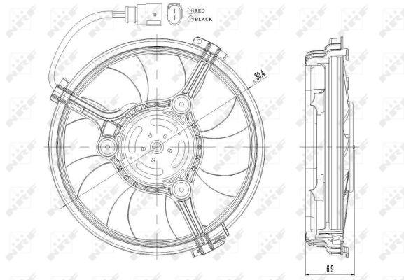 Ventilateur de radiateur NRF 47208 (X1)