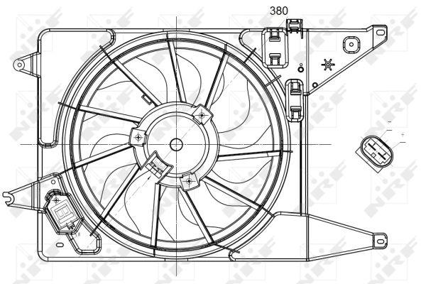 Ventilateur de radiateur NRF 47225 (X1)