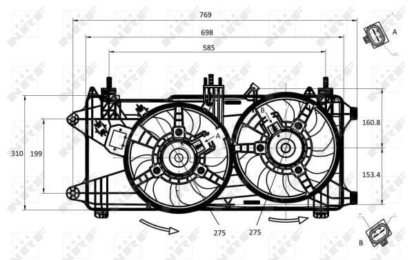 Ventilateur de radiateur NRF 47231 (X1)
