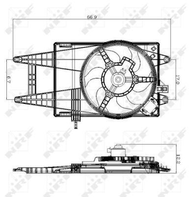 Ventilateur de radiateur NRF 47243 (X1)