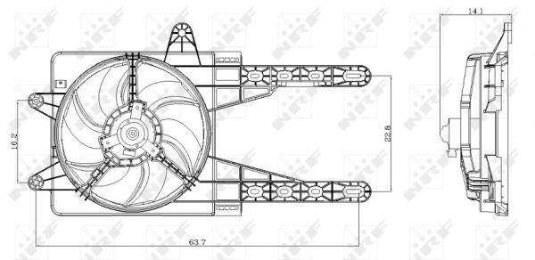 Ventilateur de radiateur NRF 47247 (X1)