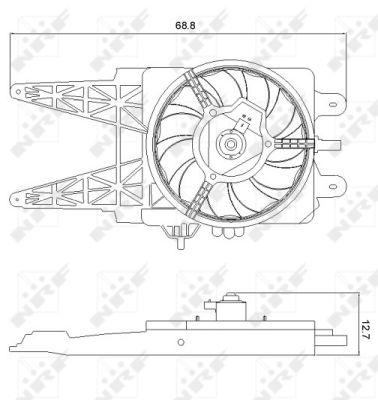 Ventilateur de radiateur NRF 47248 (X1)