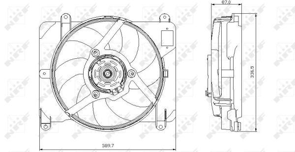 Ventilateur de radiateur NRF 47255 (X1)