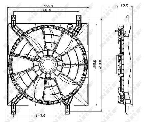 Ventilateur de radiateur NRF 47257 (X1)