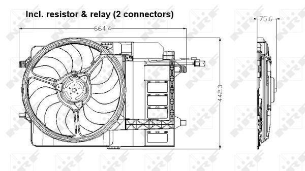 Ventilateur de radiateur NRF 47302 (X1)