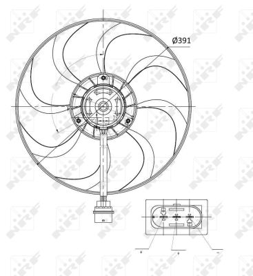 Ventilateur de radiateur NRF 47375 (X1)