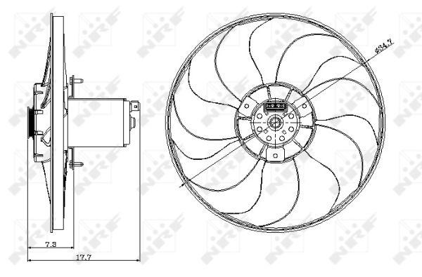 Ventilateur de radiateur NRF 47404 (X1)