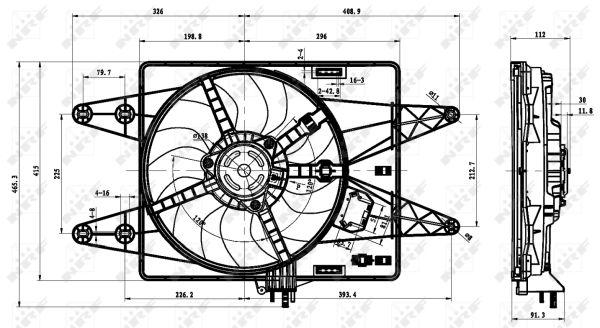 Ventilateur de radiateur NRF 47430 (X1)