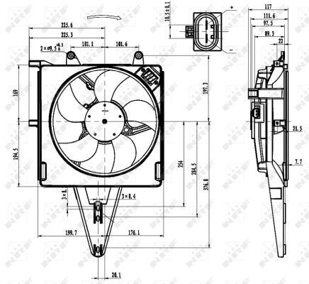 Ventilateur de radiateur NRF 47431 (X1)