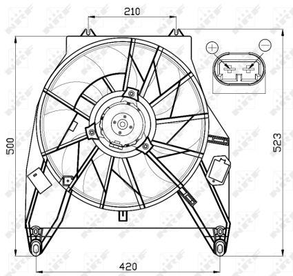 Ventilateur de radiateur NRF 47456 (X1)
