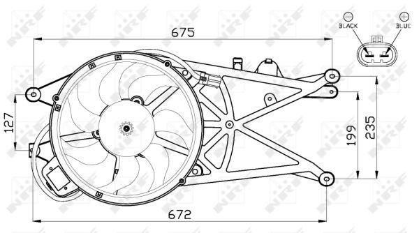 Ventilateur de radiateur NRF 47489 (X1)