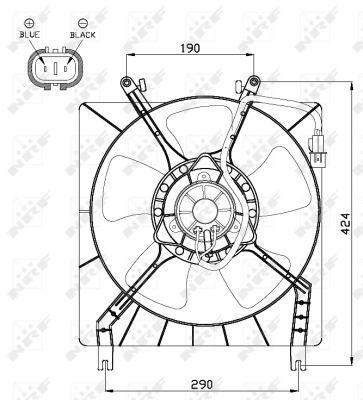 Ventilateur de radiateur NRF 47492 (X1)