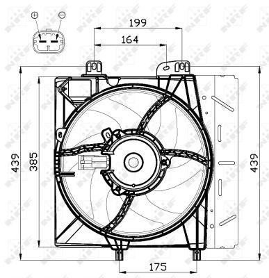 Ventilateur de radiateur NRF 47495 (X1)