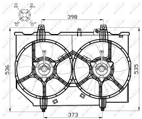 Ventilateur de radiateur NRF 47497 (X1)