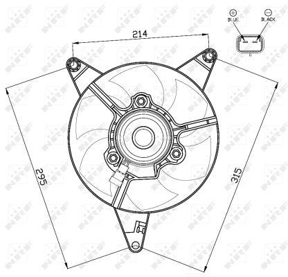 Ventilateur de radiateur NRF 47498 (X1)