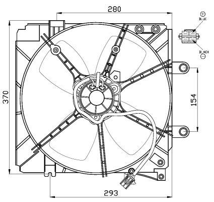 Ventilateur de radiateur NRF 47501 (X1)