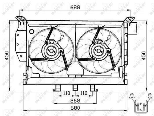 Ventilateur de radiateur NRF 47503 (X1)