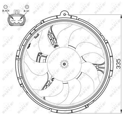 Ventilateur de radiateur NRF 47505 (X1)