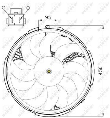 Ventilateur de radiateur NRF 47506 (X1)