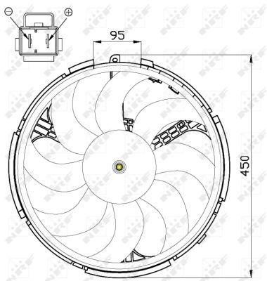 Ventilateur de radiateur NRF 47507 (X1)