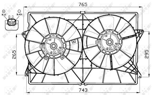 Ventilateur de radiateur NRF 47520 (X1)