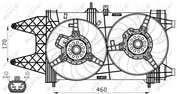 Ventilateur de radiateur NRF 47542 (X1)