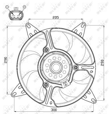Ventilateur de radiateur NRF 47543 (X1)