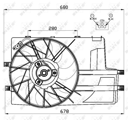 Ventilateur de radiateur NRF 47552 (X1)